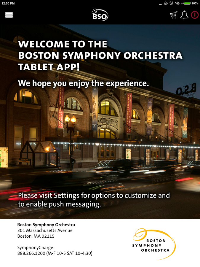 Boston Symphony Orchestra For Tablet- screenshot