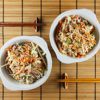 Asian Cole Slaw with Wasabi Dressing.
