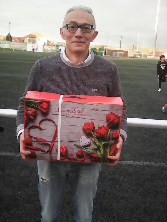 ADR Numancia de Ares. Antonio ganador rifa del encuentro de aficionados Numancia - Cebarca disputado en Prados Vellos