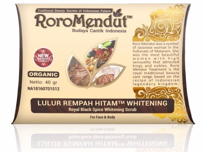 RORO MENDUT LULUR REMPAH HITAM herbal Roromendut bpom kemasan baru 40gr memutihkan kulit halus