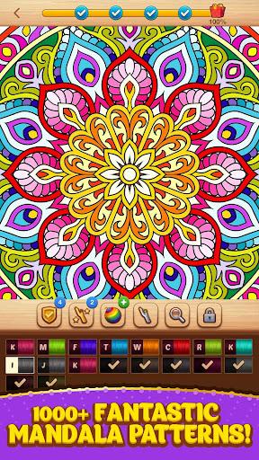 Cross Stitch Coloring Mandala screenshot 1