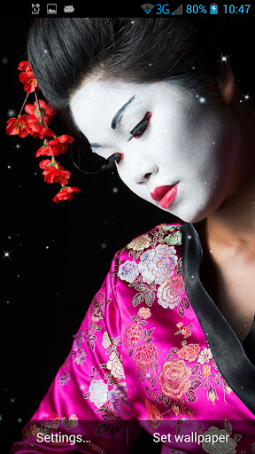 Geisha Live Wallpaper