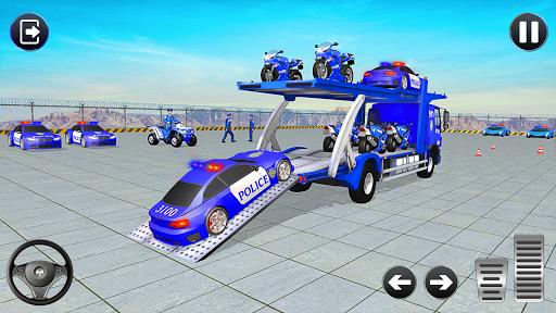 Code Triche Jeux de Camion de Transport de Voiture de Police APK MOD (Astuce) screenshots 1