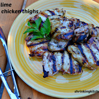Honey Lime Grilled Chicken Thighs