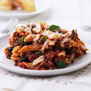 Penne with Meat Sauce Recipe