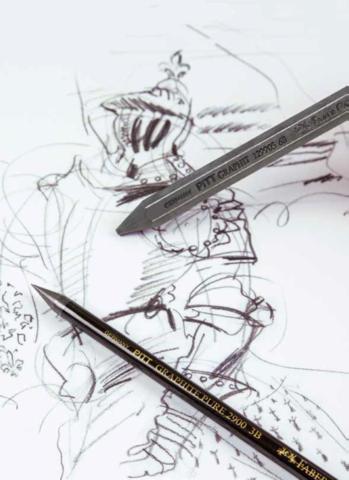 Pitt Graphite pencil, crayon, and sketch