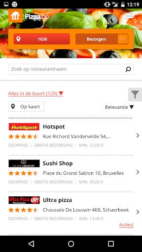 Pizza.be - Eten bestellen