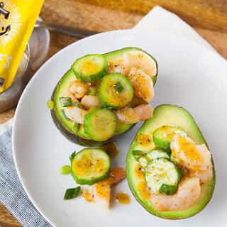 Shrimp & Cucumber Stuffed Avocados