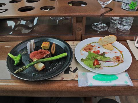 ウィラー(網走バス)「レストランバス2018」 8888 試乗会 提供された料理2品_01