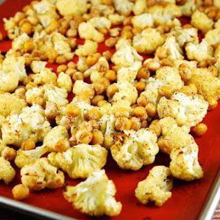 Roasted Cumin Spiced Cauliflower and Garbanzo Beans.