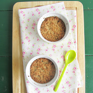 Quince, Apple, Oat, and Almond Crumble.