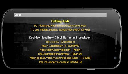 Kodi Guide:  Free TV & Movies 1.0 screenshot 455161