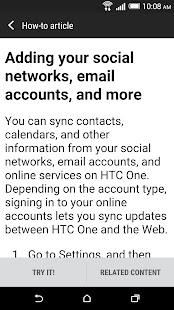 HTC Help - screenshot thumbnail