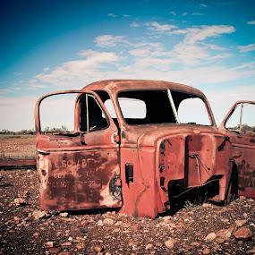 by Pat Kiellor - Transportation Other ( desert, truck, derelict )