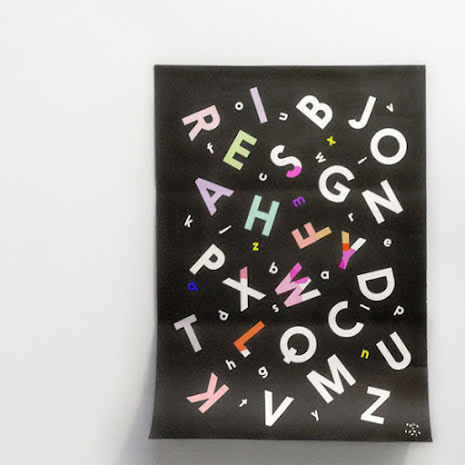 Alphabet Soup Colouring Poster