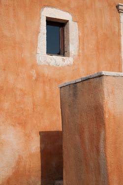 . orange wall