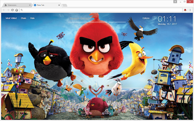 Angry Birds Wallpapers Newtab Freeaddon Com
