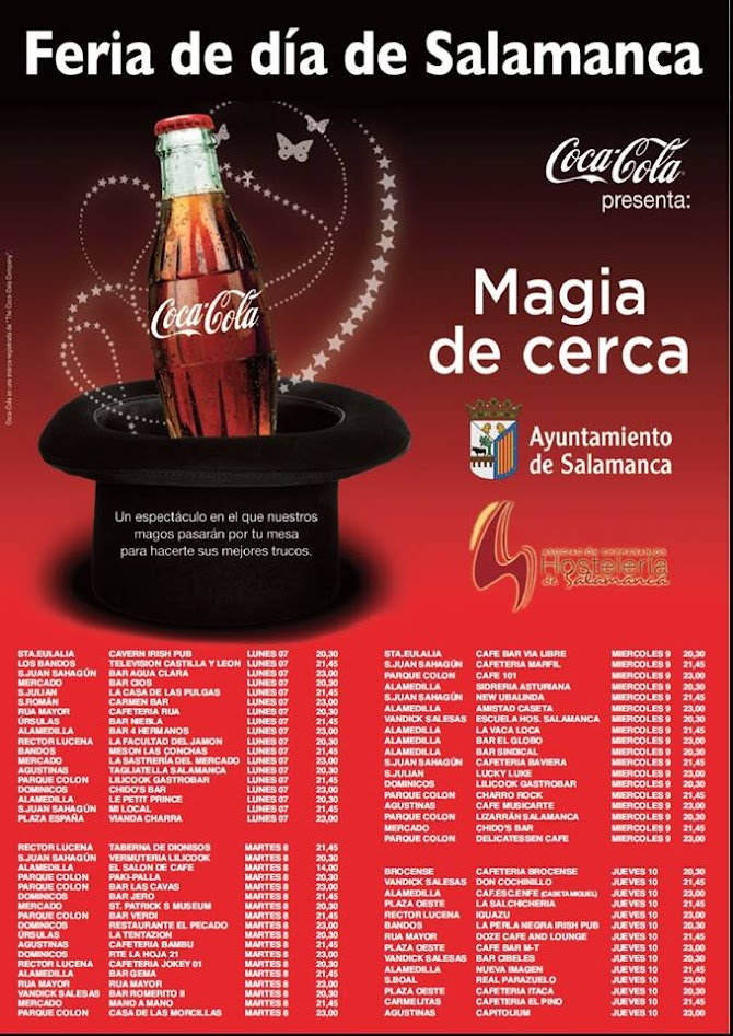 cartel actuaciones magia coca-cola feria de salamanca 2015