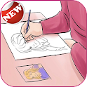learn to drawing icon