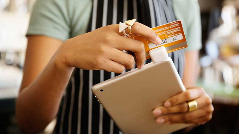 Payment process with credit cards