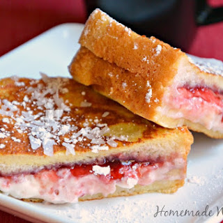 Raspberry Coconut Stuffed French Toast