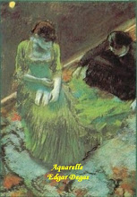 Photo: aquarelle-Edgar Degas