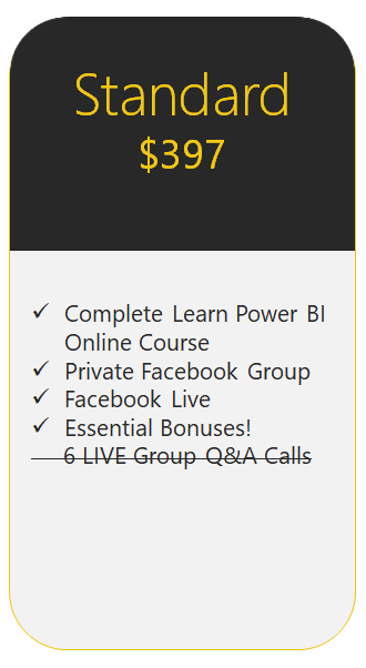 Learn Power BI Standard Edition