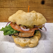 Salmon Burger (order online save.50)