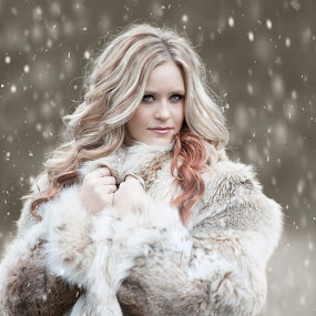 Oh What Difference A Little Snow Makes - Shawnessy Ransom Photography © 2013 by Shawnessy Ransom - People Portraits of Women ( model, winter, highschool senior, snow, fur )