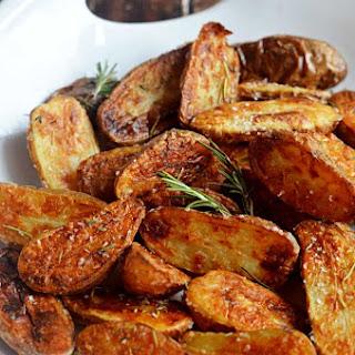 Crispy Sea Salt and Vinegar Roasted Potatoes.