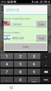 Shekel World Exchange Rates