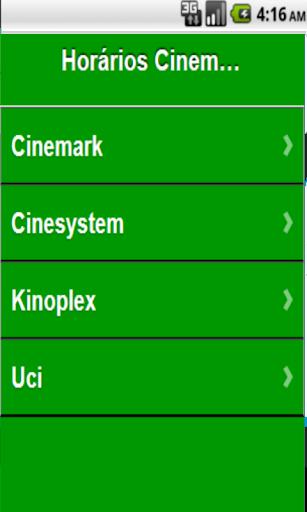 Horários de cinemas Brasil