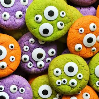 Halloween Monster Eye Cookies.