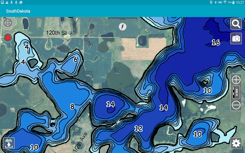 Aqua Map South Dakota Lakes- screenshot thumbnail