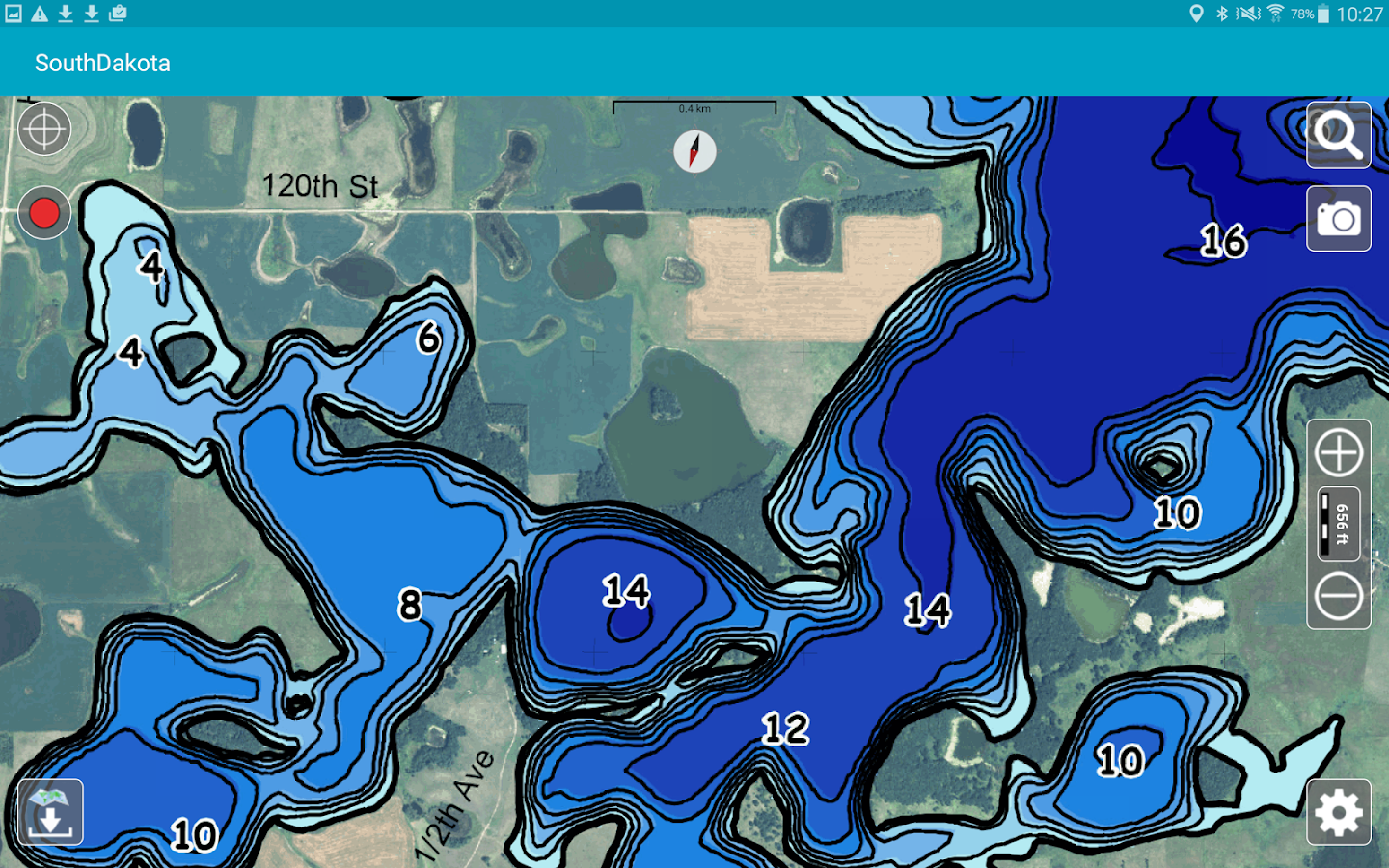 Aqua Map South Dakota Lakes- screenshot