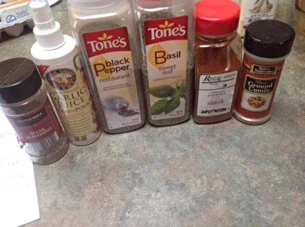 These are the spices that I used to season the soup. Add the spices...