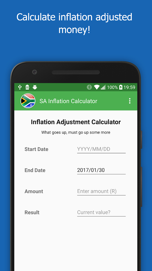 SA Inflation Calculator- screenshot
