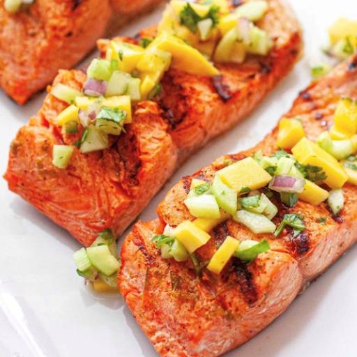 Salmon and Mango Home