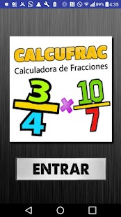 Calcufrac Fracciones- screenshot thumbnail