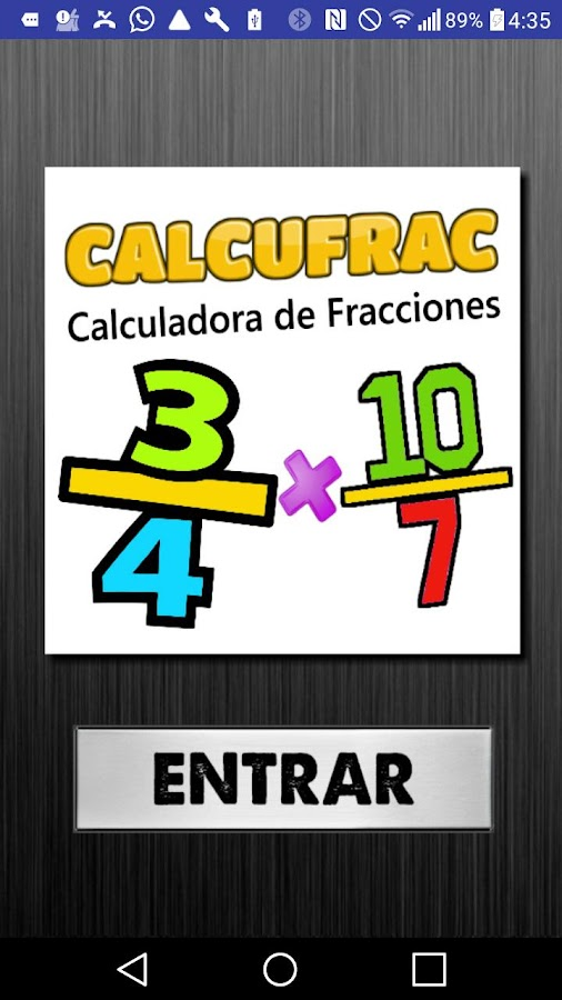 Calcufrac Fracciones- screenshot