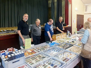 Photo: 011 Another shot of the 009 Society sales stand just to get the rest of the team in, from the right, Steve Lawrence and Mike Sarsfield with David Camis and Lee Bryant, who we met in the previous photo .