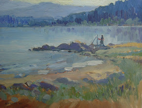 Photo: Tahoe Painter, oil on canvas by Nancy Roberts, copyright 2014. Private collection.