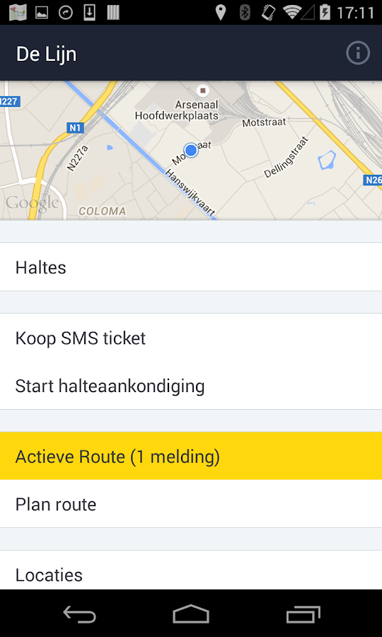 De Lijn: screenshot