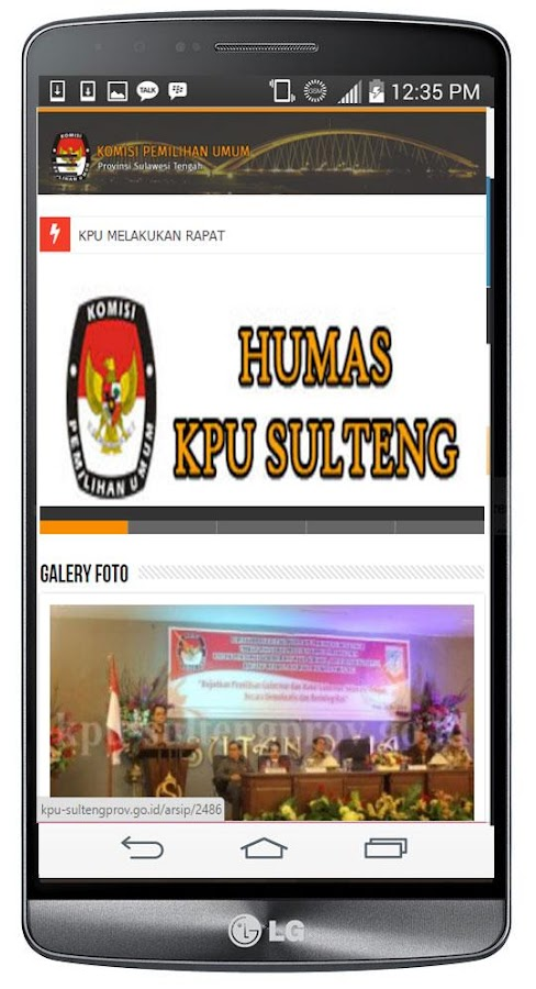 KPU SulTeng Prov- screenshot