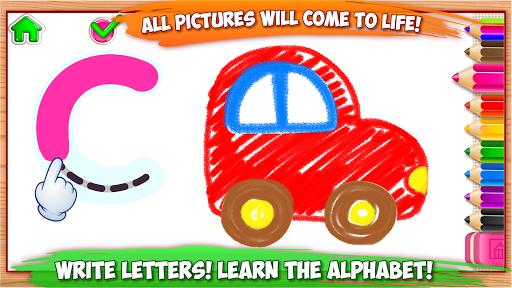 ABC DRAW ud83cudfa8 Kids Drawing! Alphabet Games Preschool  screenshots 1