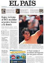 Photo: Rajoy pice al BCE medidas urgentes frente a la deuda, el fiscal exculpa al presidente del Supremo por sus gastos secretos y Nadal vence a Djokovic, en nuestra portada del martes 22 de mayo http://cort.as/20K6