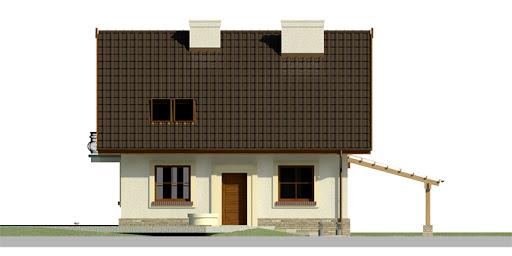 Dom przy Cyprysowej 26 - Elewacja przednia