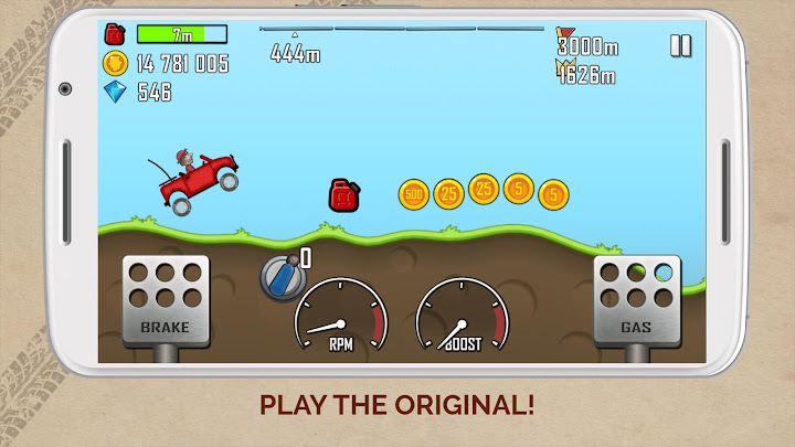 Hill Climb Racing Android App Screenshot