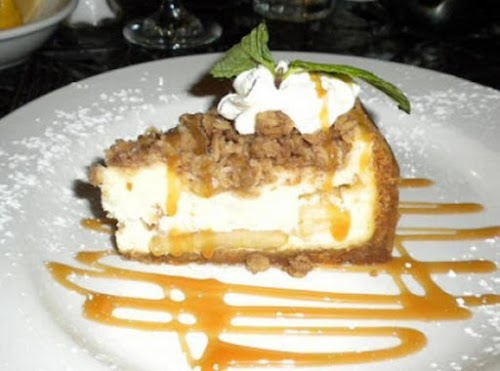 """Caramel-Apple Sundae Cheesecake """"I made it for Thanksgiving and even with the..."""