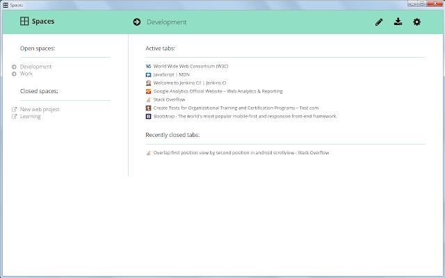 Spaces Screenshot